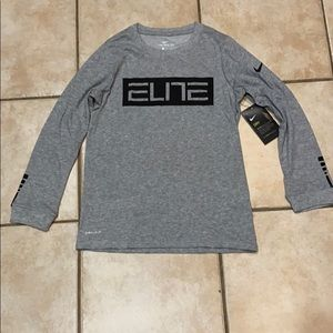 THE NIKE TEE ELITE long sleeve grey black sz S 8